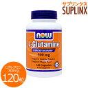 Lグルタミン 500mg 120粒[サプリメント/健康サプリ/サプリ/アミノ酸/now/ナウ/栄養補...
