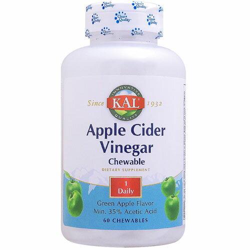 アップルサイダービネガー(リンゴ酢)500mgチュワブル60粒[健康食品/健康酢/酢飲料/りんご酢/