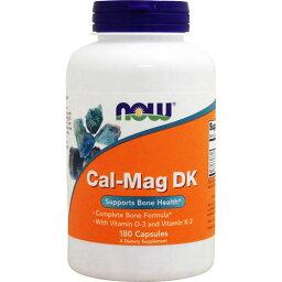 カルマグ DK(ビタミンD3、ビタミンK2配合) 180粒(ビタミンD3/ビタミンK2/トレースミネラル配合)[サプリメント/健康サプリ/サプリ/ミネラル/カルシウム/now/ナウ/栄養補助/栄養補助食品/アメリカ/カプセル]
