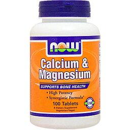 カルシウム マグネシウム 100粒[サプリメント/健康サプリ/サプリ/カルシウム/マグネシウム/now/ナウ/栄養補助/栄養補助食品/アメリカ/カプセル]