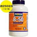 [ お得サイズ ] ビタミンB50コンプレックス 250粒[サプリメント/健康サプリ/サプリ/ビタミン/ビタミンB群/お徳用/now/ナウ/栄養補助/栄養補助食品/アメリカ/カプセル/サプリンクス]