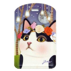 jetoy ジェトイ 【メール便またはゆうメール】choochoo本舗猫のネームタグ4 白黒フラワー