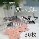【送料無料】シート乾燥剤×30枚30×30/業務用乾燥剤(薄型)