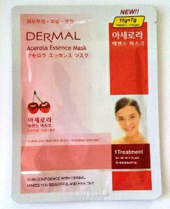 Korea popular mask 3 set ★ DERMAL Acerola essence mask