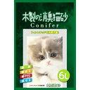 株式会社コーチョー木製の消臭猫砂 コニファー(6L)<フィトンチッドで消臭抗菌>