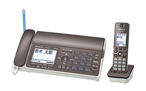 Panasonic デジタルコードレスFAX 子機1台付き 1.9GHz DECT準拠方式 ブラウン KX-PD503DL-T