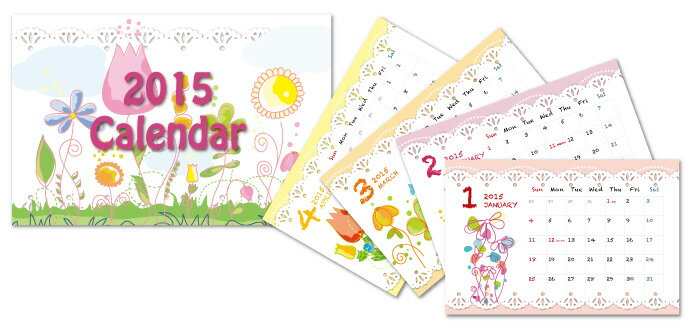 卓上カレンダー,花,イラスト ... : 卓上カレンダー イラスト : イラスト