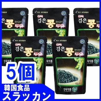黒豆豆乳195ml(パウチ韓国版)5個