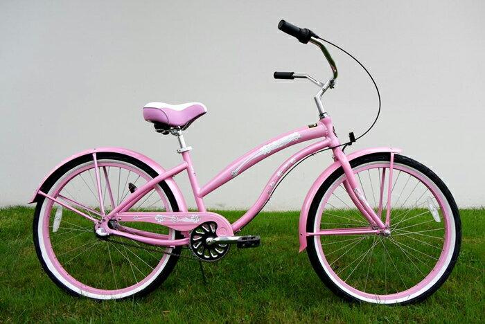 ★グリーンライン ビーチクルーザー Greenline(USA)K3APL 26インチ 3Speed ピンク 自転車 【送料無料】簡単にエコ運動に参加できる乗り物!ここだけで買える限定アメリカブランドです!非常時には頼りになる自転車!可愛い(可愛い)