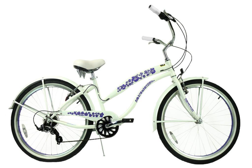 ★SALE★グリーンライン ビーチクルーザー Greenline(USA)706PL  26インチ 7Speed Pearl white 自転車 【送料無料】簡単にエコ運動に参加できる乗り物!ここだけで買える限定ブランドです!