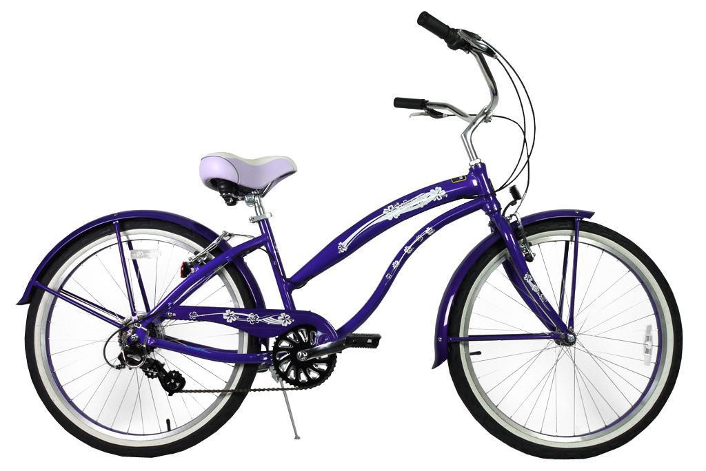グリーンライン ビーチクルーザー Greenline(USA)K7APL  26インチ 7Speed Purple 自転車 【送料無料】簡単にエコ運動に参加できる乗り物!ここだけで買える限定ブランドです!