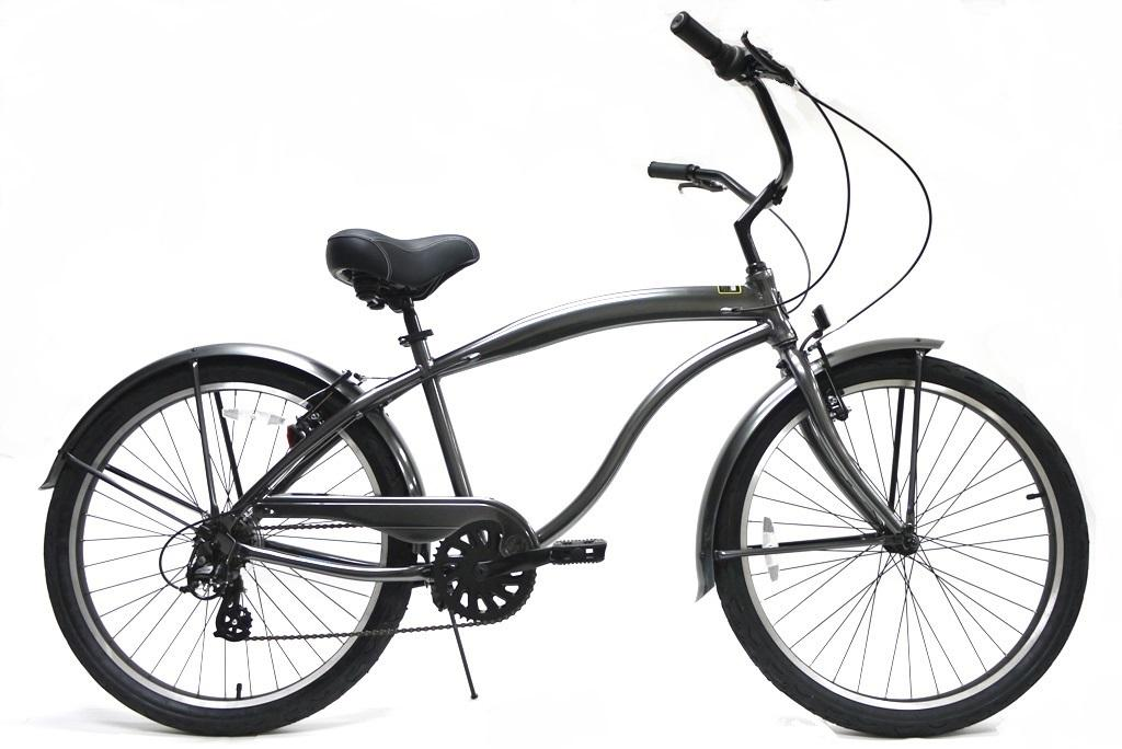 Greenline K7APM 7 Speed Steel Gray アルミ製軽量バイク 【送料無料】簡単にエコ運動に参加できる乗り物!ここだけで買える限定ブランドです!
