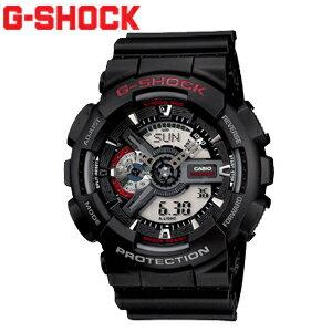 時計,ウォッチ,G-SHOCK●GA-110-1AJF アナログとデジタル表示が融合した文字板に歯車状の細かなパーツを立体的に組み上げているモデル