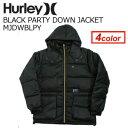 ネオンやゴールドカラーのジップがポイントのダウンジャケット☆〔あす楽対応〕【送料無料】Hurley,ハーレー,アウター,ダウンジャケット●BLACK PARTY DOWN JACKET MJDWBLPY