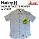 奇麗目なシャンブレー生地にド派手なアロハ、花柄、タイガーカモをミックス!〔あす楽対応〕【送料無料】Hurley,ハーレー,シャツ,半袖●NOW IS TIME S/S WOVEN MVSSNIT