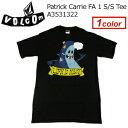 〔あす楽対応〕Volcom,ボルコム,Tシャツ,半袖●Patrick Carrie FA 1 S/S Tee A3531322