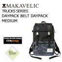 〔あす楽対応〕【送料無料】MAKAVELIC TRUCKS DOUBLE BELT DAYPAC MEDIUM BLACK/SHADOW-MULTI マキャベリック トラッ…
