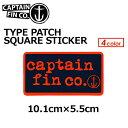 あす楽 CAPTAIN FIN キャプテンフィン ステッカー メール便対応可●15ss TYPE PATCH SQUARE STICKER 5.5×10.1