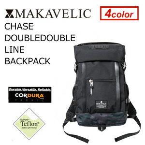【送料無料】MAKAVELIC CHASE DOUBLE LINE BACKPACK BLACK SHADOW MULTI マキャベリック チェス ダブルライン バックパック ブラックシャドーマルチ