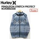 〔あす楽対応〕【送料無料】Hurley,ハーレー,ジャージ,PHANTOMストレッチ,ペンドルトン,ジップ,パーカー,17ho●PENDLETON STRETCH PROTECT MJK0002330