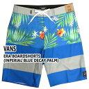 VANS/バンズERABOARDSHORTSINPERIALBLUEDECAYPALM男性用サーフパンツボードショーツサーフトランクス海水パンツ海パンメンズ水着