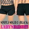 """VOLCOM/ボルコム 新作レディース サーフパンツ SIMPLY SOLID 3"""" BLK ボードショーツ/サーフトランクス 女性用水着 サーフィン用_02P01Oct16"""