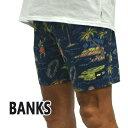 値下げしました!BANKS/バンクス KEIKEI BOARDSHORTS INSIGNIA BLUE 男性用 サーフパンツ ボードショーツ サーフトランクス 海パン 水..