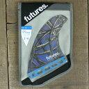 FUTURES FIN/フューチャーズ フィン FIBERGLASS DANNY FULLER BLUE/ART QUAD MEDIUM クワッドフィン4本セッ...