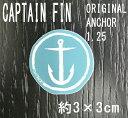 CAPTAIN FIN/キャプテンフィン ORIGINAL ANCHOR 1.25 SMALL BLUE STICKER/ステッカー シール スケボー