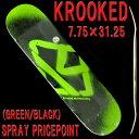 KROOKED/クルキッド スケートボード デッキ SPRAY PRICE POINT 7.75 GREEN/BLACK スケボーDECK SK8