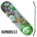 NUMBERS EDITION/ナンバーズエディション KOSTON EDITION7 ERIC KOSTON 8.5 GREEN DECK SK8 スケートボード/スケボーデッキ 返品 交換及びキャンセル不可