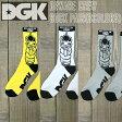 DGK/ディージーケイ メンズ ソックス BEWARE CREW 3COLOR SOCK PAIR スケーターソックス 男性靴下_02P01Oct16