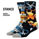 STANCE/スタンス メンズ ソックス MIDLAND BLK SOCK スケーターソックス 男性靴下_02P01Oct16
