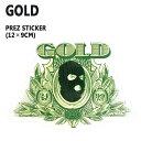 GOLD/ゴールド STICKER/ステッカー PREZ_02P01Oct16