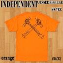 ショッピングORANGE 値下げしました!INDEPENDENT/インデペンデント JESSEE S/S TEE ORANGE メンズ Tシャツ 男性用 T-shirts 半袖 Jason Jessee コラボ