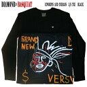 DIAMOND/ダイヤモンド COWBOYS AND INDIANS L/S TEE BLACK BASQUIATコラボ メンズ 長袖Tシャツ 男性用 T-shirts