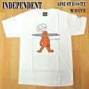 値下げしました!INDEPENDENT/インデペンデント GONZ STUD S/S TEE WHITE MARK GONZALESコラボ メンズ Tシャツ 男性用 T-shirts 半袖 丸首 MENS 44153843