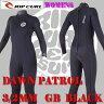 レディース用 RIP CURL/リップカール DAWNPATROL 女性用フルスーツ ウェットスーツ 3/2 GBタイプ ブラック BLK送料無料サーフィン用_02P03Sep16