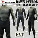 値下げしました!RIP CURL/リップカール DAWN PATROL BACK ZIP 4/3mm フルスーツ ウェットスーツ FAT GBタイプ_送料無料サ...