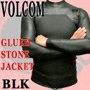 メンズ長袖タッパー VOLCOM/ボルコム GLUED STONE JACKET BLACK 男性用サーフィン用ウェットスーツ 送料無料_02P01Oct16