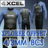 XCEL/エクセル XPLORER 4/3mm OFF SET ZIP フルスーツ BCS WET SUITS/ウェットスーツ_送料無料冬用男性用サーフィン用_02P01Oct16