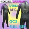 レディース用XCEL/エクセル GCS 3/2mm フルスーツ ウェットスーツ BEG_送料無料サーフィン用女性用冬用_02P03Sep16