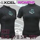 値下げしました!レディース用XCEL/エクセル1/0.5mm 半袖タッパ SLX ウェットスーツ BKO送料無料サーフィン用女性用_02P01Oct16