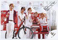 【中古】生写真(ジャニーズ)/アイドル/嵐 嵐/集合(5人)/コカ・コーラ/二宮自転車/横型/公式生写真