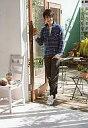 【中古】生写真(男性)/俳優 清水良太郎(亜久津仁)/全身・シャツチェック青・私服ショット/ミュージカルテニスの王子様「Dream Live 7th」