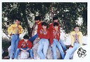 【中古】生写真(ジャニーズ)/アイドル/光GENJI 光GENJI/7人(集合)/横型・センター諸星・腕組み・衣装赤・膝上/公式生写真