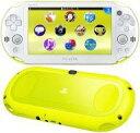 【中古】PSVITAハード PlayStaiton Vita本体 Wi-Fiモデル ライムグリーン ホワイト PCH-2000