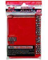 Supply card barrier mini-metallic red