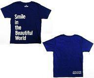 【中古】Tシャツ(男性アイドル) 嵐 Tシャツ ネイビー Fサイズ 「ARASHI LIVE TOUR Beautiful World」