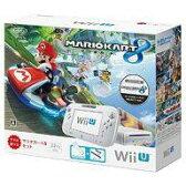 【中古】WiiUハード WiiU本体 マリオカート8セット shiro【02P03Sep16】【画】